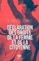Couverture Déclaration des droits de la femme et de la citoyenne Editions Mille et une nuits 2020