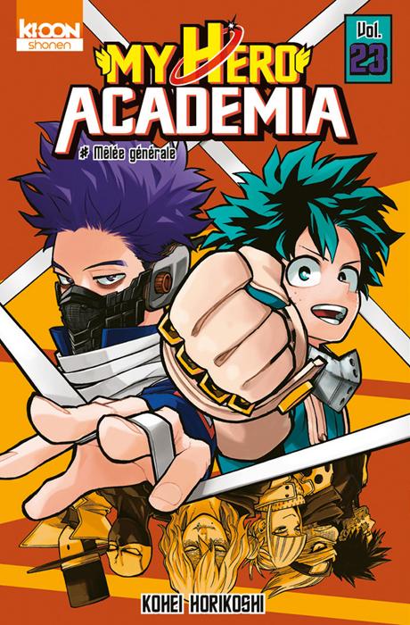 Couverture My Hero Academia, tome 23 : Mêlée générale