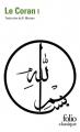 Couverture Le Coran Editions Gallimard  1995