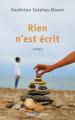 Couverture Rien n'est écrit Editions Robert Laffont 2020