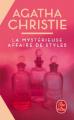 Couverture La Mystérieuse Affaire de Styles Editions Le Livre de Poche 2001