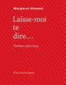 Couverture Laisse-moi te dire... Poèmes 1964-1974 Editions Bruno Doucey 2020