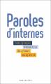 Couverture Paroles d'internes Editions Anne Carrière 2020
