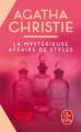 Couverture La Mystérieuse Affaire de Styles Editions Le Livre de Poche 2019