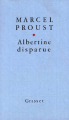 Couverture Albertine disparue Editions Grasset 1987