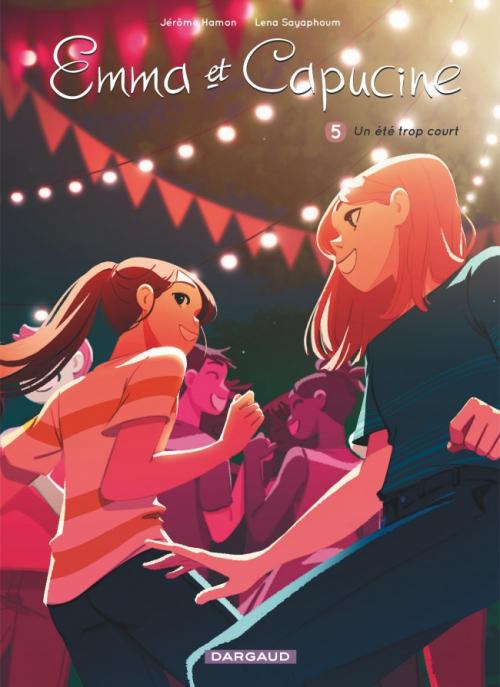 Couverture Emma et Capucine, tome 5 : Un été trop court