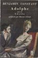 Couverture Adolphe Editions Le Livre de Poche (Classique) 1964