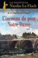 Couverture L'inconnu du pont Notre-Dame Editions JC Lattès 2015