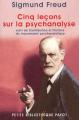 Couverture Cinq leçons sur la psychanalyse Editions Payot 2003