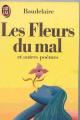 Couverture Les fleurs du mal / Les fleurs du mal et autres poèmes Editions Flammarion 1988