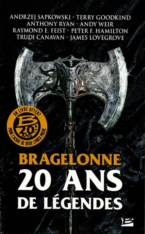 Couverture Bragelonne 20 ans de légende