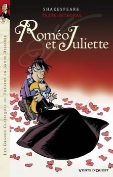 Couverture Les grands classiques du théatre en Bande Dessinée : Roméo et Juliette