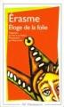 Couverture Eloge de la folie Editions Flammarion (GF) 1999