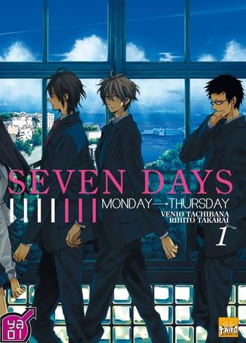 Couverture Seven Days, tome 1 : Monday -> Thursday