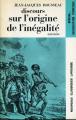 Couverture Discours sur l'origine et les fondements de l'inégalité parmi les hommes Editions Larousse (Nouveaux classiques) 1972