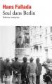 Couverture Seul dans Berlin Editions Gallimard  2016