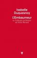 Couverture L'embaumeur ou l'odieuse confession de Victor Renard Editions de La Martinière 2017