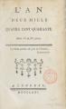 Couverture L'an 2440 Editions Autoédité 1771