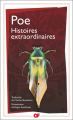 Couverture Histoires extraordinaires Editions Garnier Flammarion 2020