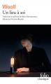 Couverture Une chambre à soi / Un lieu à soi Editions Folio  (Classique) 2020