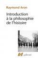 Couverture Introduction à la philosophie de l'histoire Editions Gallimard  (Tel) 2020