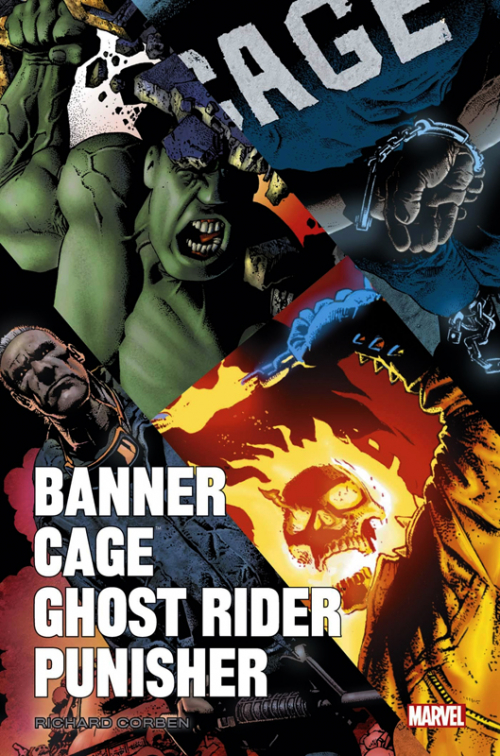 Couverture Banner / Cage / Ghost Rider / Punisher