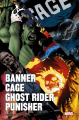 Couverture Banner / Cage / Ghost Rider / Punisher  Editions Panini (Marvel Icons) 2019