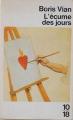 Couverture L'écume des jours Editions 10/18 1963