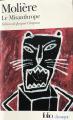 Couverture Le misanthrope / Le misanthrope ou l'atrabilaire amoureux Editions Folio  (Classique) 2002