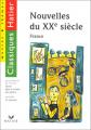 Couverture Nouvelle du XXe siècle Editions Hatier (Classiques & cie - Collège) 1997