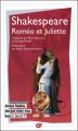 Couverture Roméo et Juliette Editions Garnier Flammarion 2016
