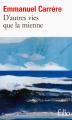 Couverture D'autres vies que la mienne Editions Folio  2017