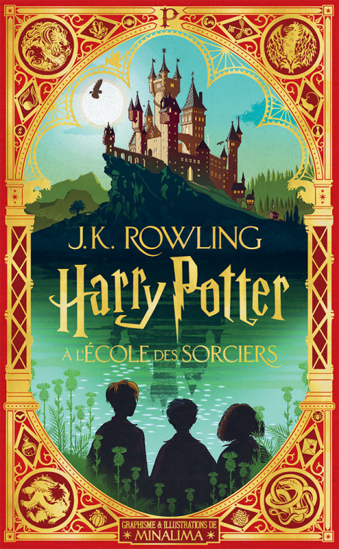 Couverture Harry Potter, illustré (MinaLima), tome 1 : Harry Potter à l'école des sorciers