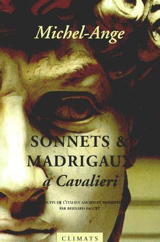 Couverture Sonnets et madrigaux à Cavalieri
