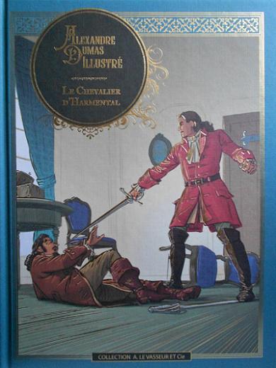 Couverture Le Chevalier d'Harmental, illustré