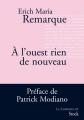 Couverture À l'ouest, rien de nouveau Editions Stock (La Cosmopolite) 2013