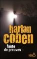 Couverture Faute de preuves Editions Belfond (Noir) 2011