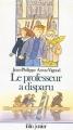 Couverture Le Professeur a disparu Editions Folio  (Junior) 1994