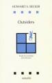 Couverture Outsiders : Etudes de sociologie de la déviance Editions Métailié (Leçons de choses) 1985