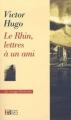 Couverture Le Rhin, lettres à un ami Editions François Bourin 2011