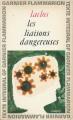 Couverture Les Liaisons dangereuses Editions Garnier Flammarion 1964