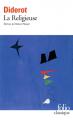 Couverture La Religieuse Editions Folio  2019
