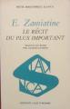 Couverture Le récit du plus important  Editions L'âge d'Homme (Slavica) 1971