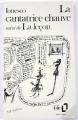 Couverture La Cantatrice chauve suivi de La Leçon Editions Gallimard  1984