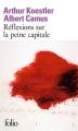 Couverture Réflexion sur la peine capitale Editions Folio  2002