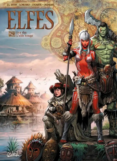 Couverture Elfes, tome 29 : Lea'saa l'elfe rouge
