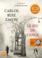 Couverture Le Jeu de l'ange Editions Audiolib 2009
