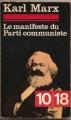 Couverture Manifeste du parti communiste Editions 10/18 1962