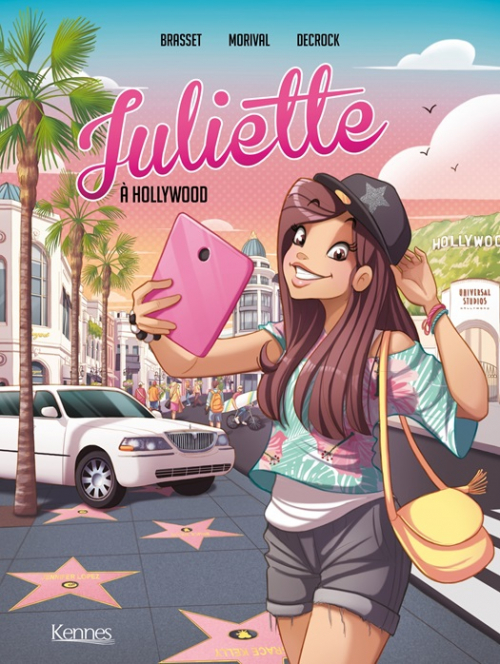 Couverture Juliette, tome 4 : Juliette à Hollywood (BD)