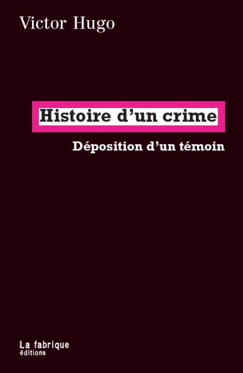 Couverture L'histoire d'un crime